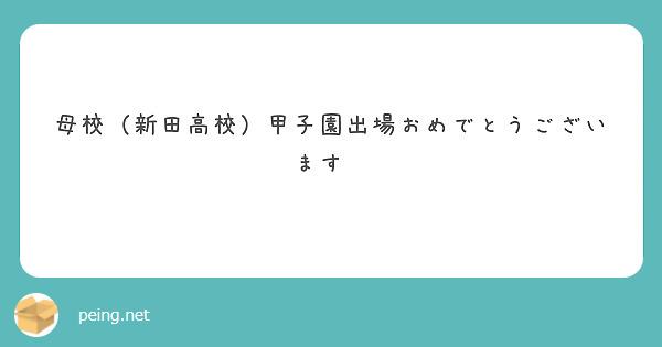 母校(新田高校)甲子園出場おめでとうございます✨